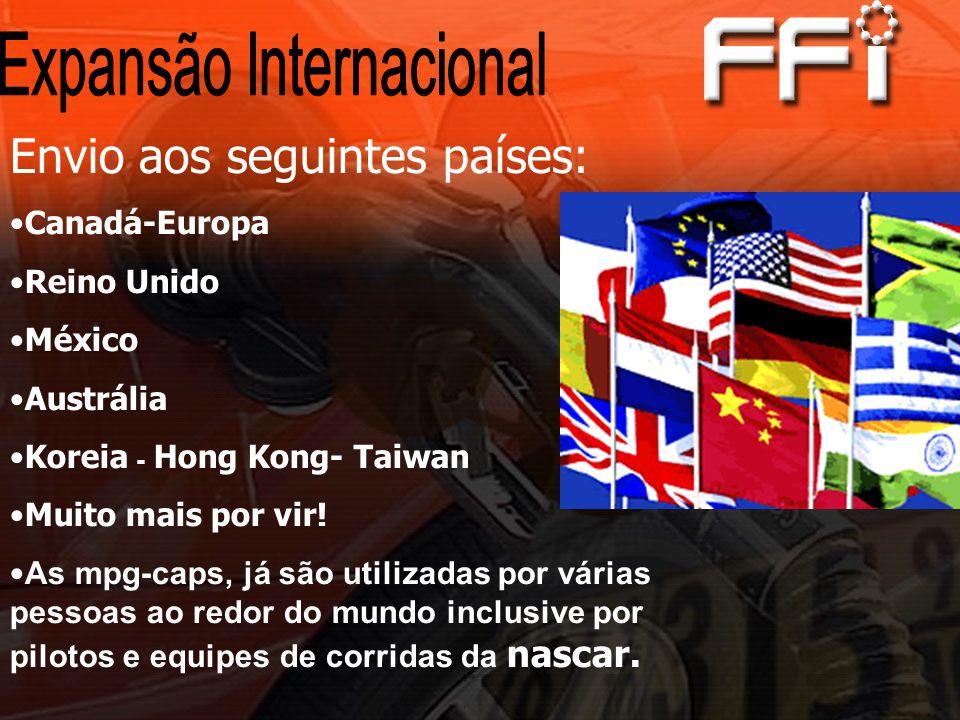 Envio aos seguintes países: Canadá-Europa Reino Unido México Austrália Koreia - Hong Kong- Taiwan Muito mais por vir.