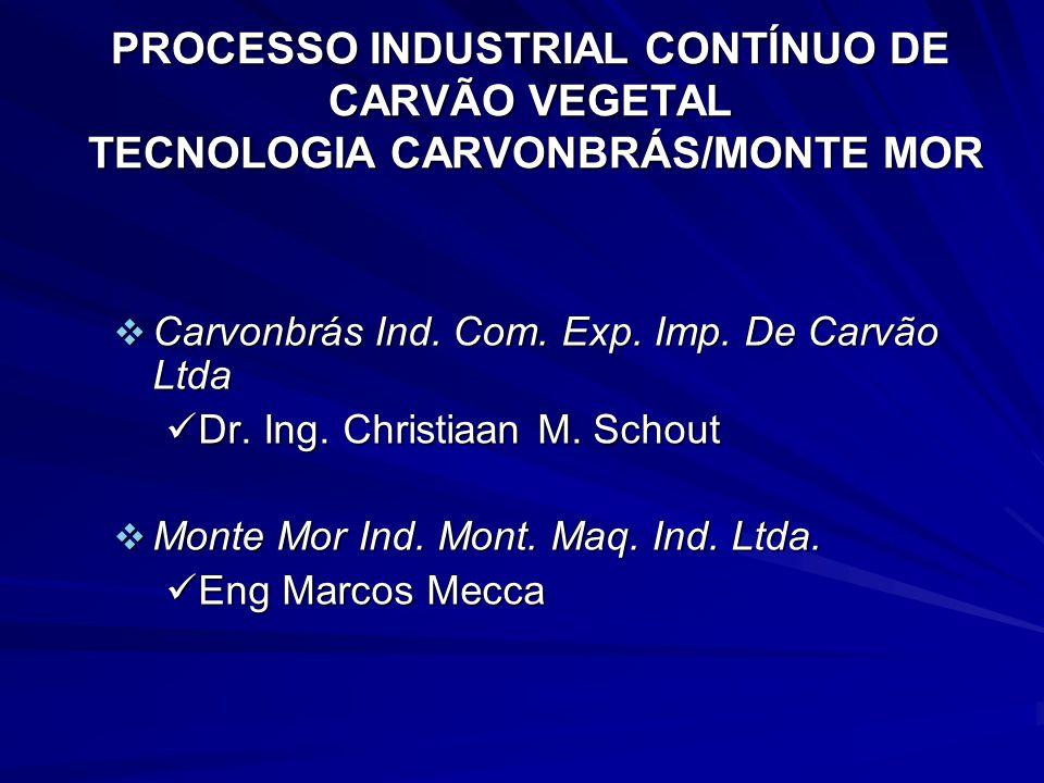 PROCESSO INDUSTRIAL CONTÍNUO DE CARVÃO VEGETAL TECNOLOGIA CARVONBRÁS/MONTE MOR Carvonbrás Ind. Com. Exp. Imp. De Carvão Ltda Carvonbrás Ind. Com. Exp.