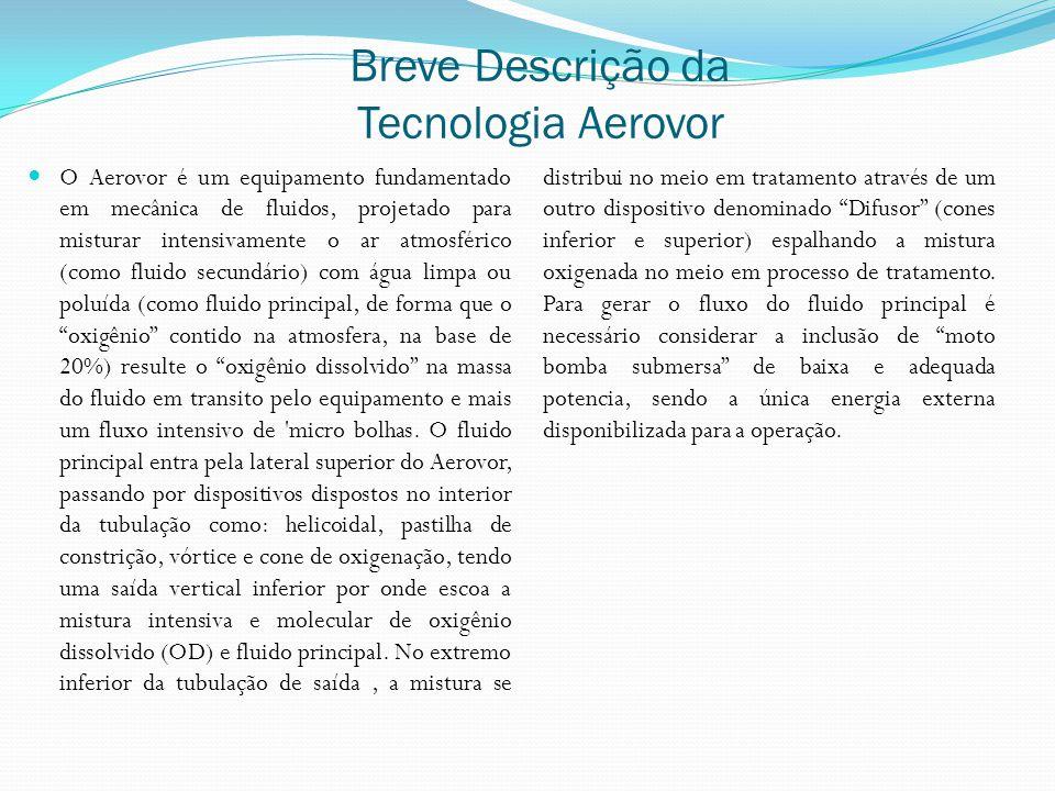 Breve Descrição da Tecnologia Aerovor O Aerovor é um equipamento fundamentado em mecânica de fluidos, projetado para misturar intensivamente o ar atmo