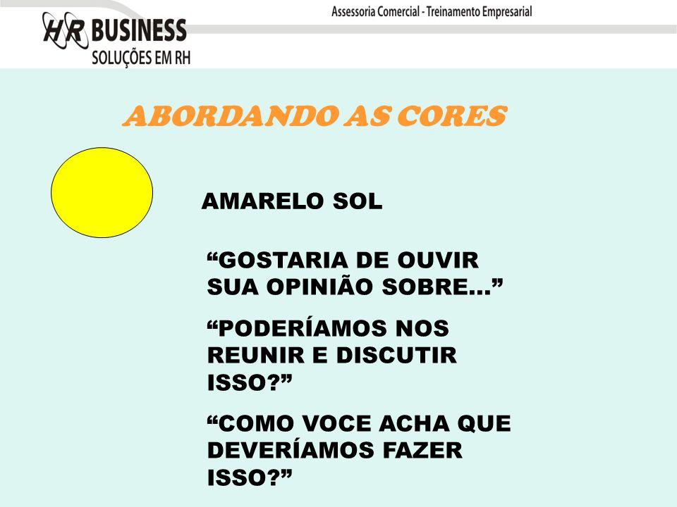AMARELO SOL ABORDANDO AS CORES GOSTARIA DE OUVIR SUA OPINIÃO SOBRE...