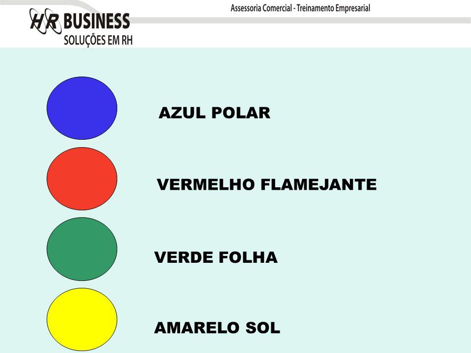 AZUL POLAR VERMELHO FLAMEJANTE VERDE FOLHA AMARELO SOL
