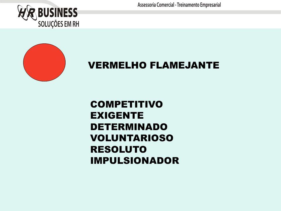 COMPETITIVO EXIGENTE DETERMINADO VOLUNTARIOSO RESOLUTO IMPULSIONADOR VERMELHO FLAMEJANTE
