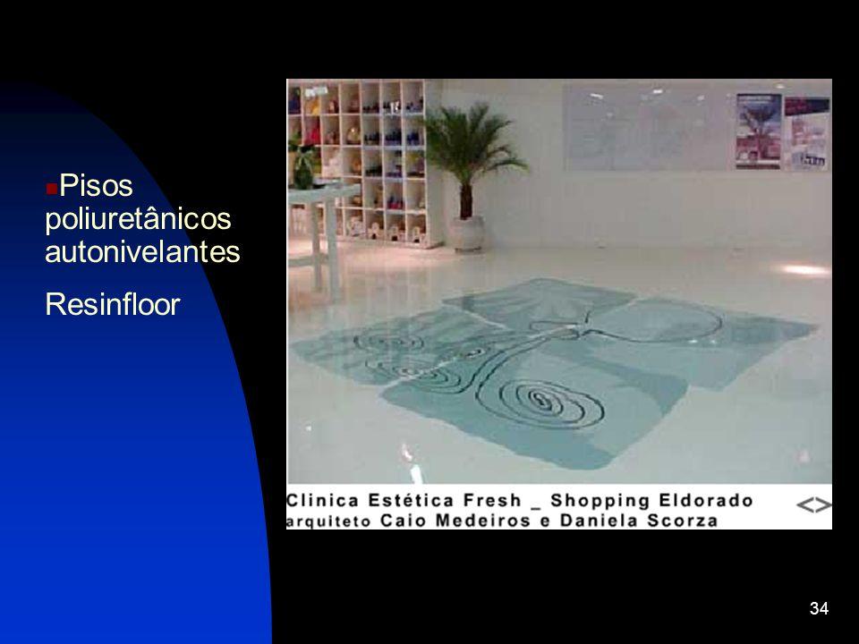 34 Pisos poliuretânicos autonivelantes Resinfloor