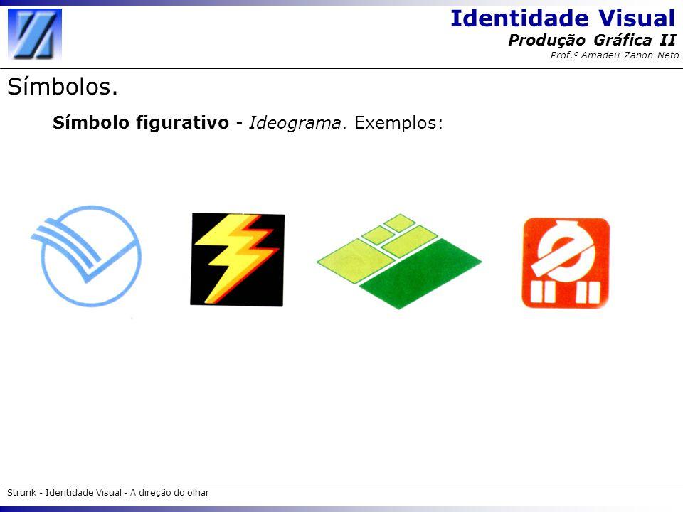 Identidade Visual Strunk - Identidade Visual - A direção do olhar Produção Gráfica II Prof.º Amadeu Zanon Neto Símbolos. Símbolo figurativo - Ideogram