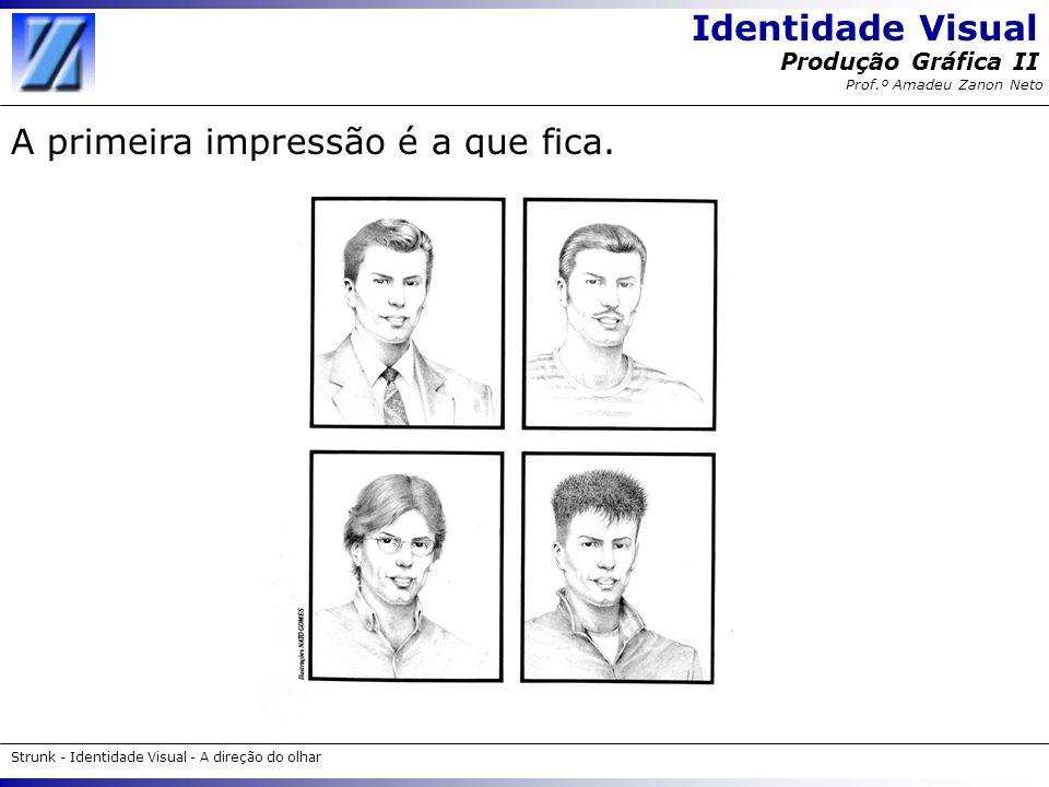 Identidade Visual Strunk - Identidade Visual - A direção do olhar Produção Gráfica II Prof.º Amadeu Zanon Neto Como analisar o desenho do símbolo e o logotipo .
