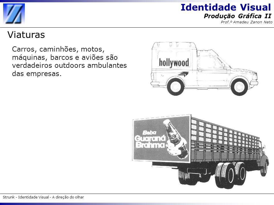 Identidade Visual Strunk - Identidade Visual - A direção do olhar Produção Gráfica II Prof.º Amadeu Zanon Neto Viaturas Carros, caminhões, motos, máqu