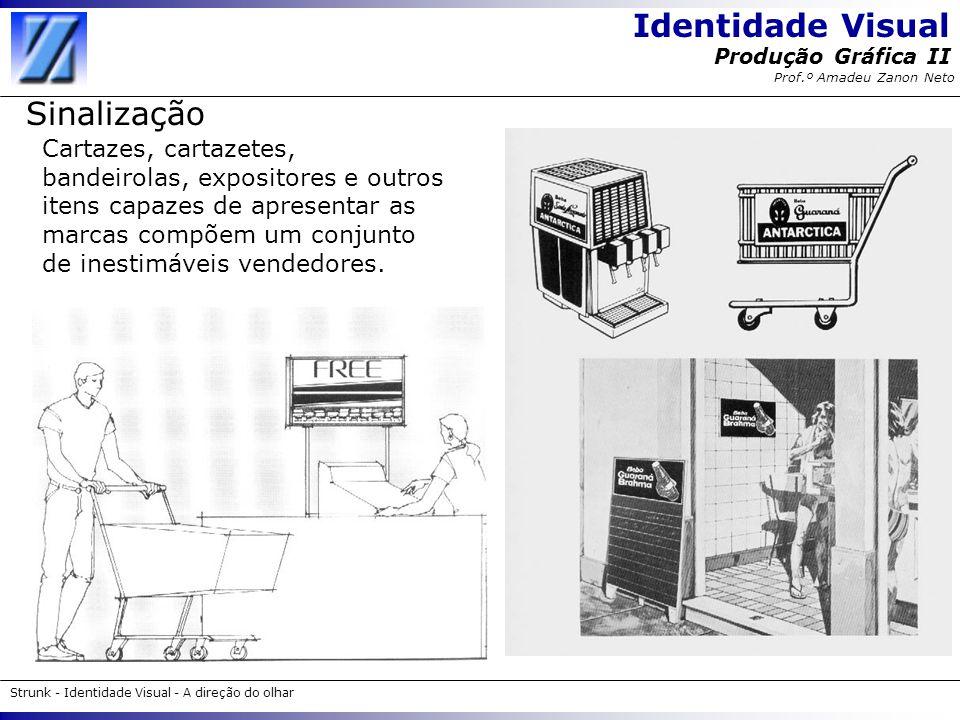Identidade Visual Strunk - Identidade Visual - A direção do olhar Produção Gráfica II Prof.º Amadeu Zanon Neto Sinalização Cartazes, cartazetes, bande