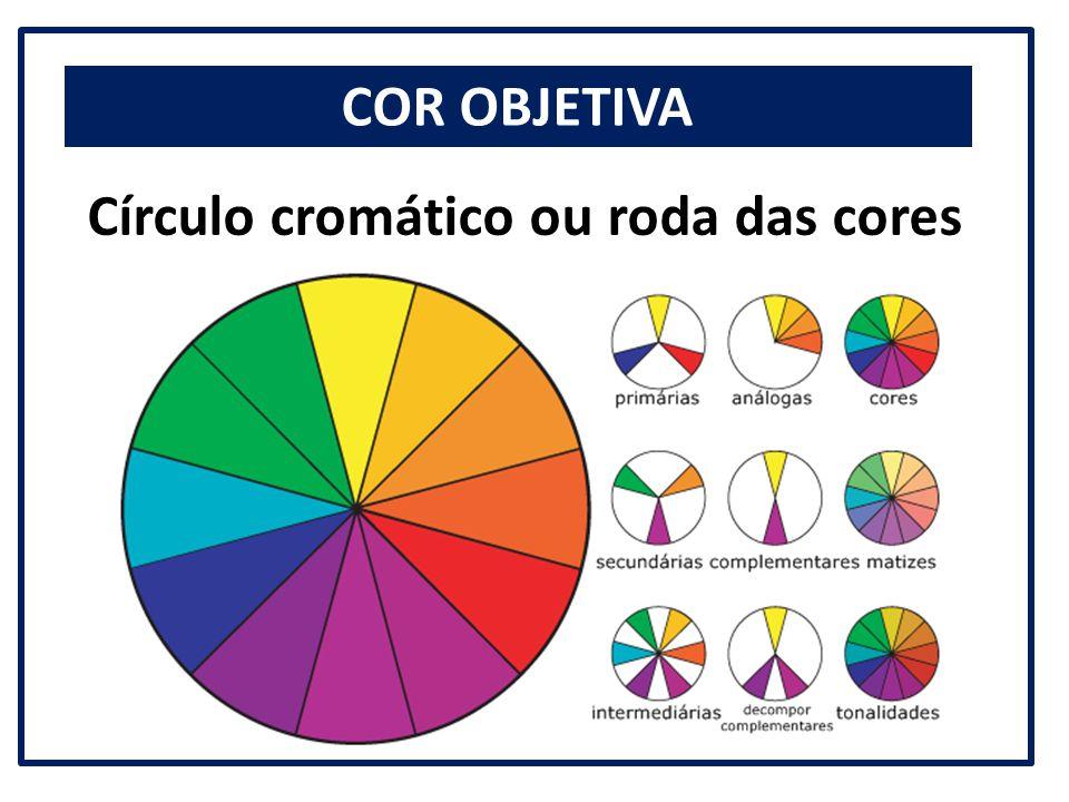 COR OBJETIVA Círculo cromático ou roda das cores