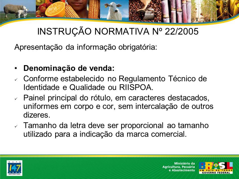 Apresentação da informação obrigatória: Categoria do estabelecimento: conforme registro no DIPOA.