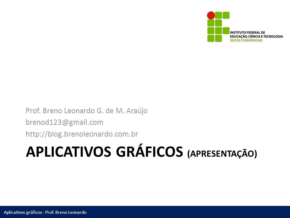 Aplicativos gráficos - Prof.Breno Leonardo APLICATIVOS GRÁFICOS (APRESENTAÇÃO) Prof.