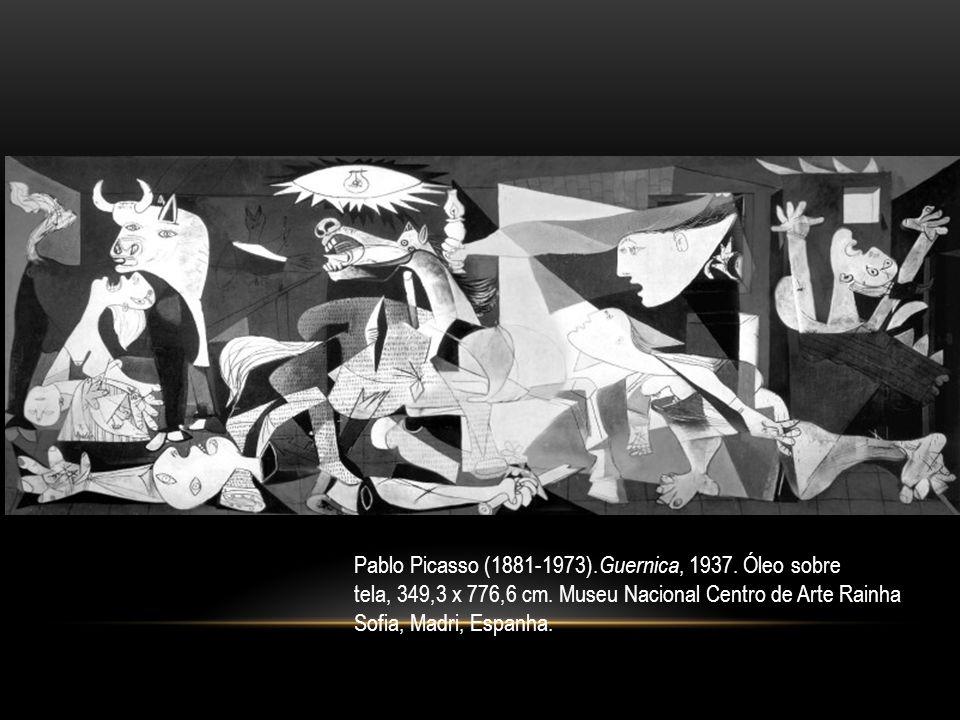 Pablo Picasso (1881-1973). Guernica, 1937. Óleo sobre tela, 349,3 x 776,6 cm. Museu Nacional Centro de Arte Rainha Sofia, Madri, Espanha.