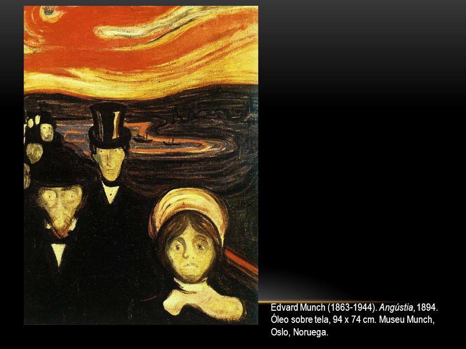Edvard Munch (1863-1944). Angústia, 1894. Óleo sobre tela, 94 x 74 cm. Museu Munch, Oslo, Noruega.