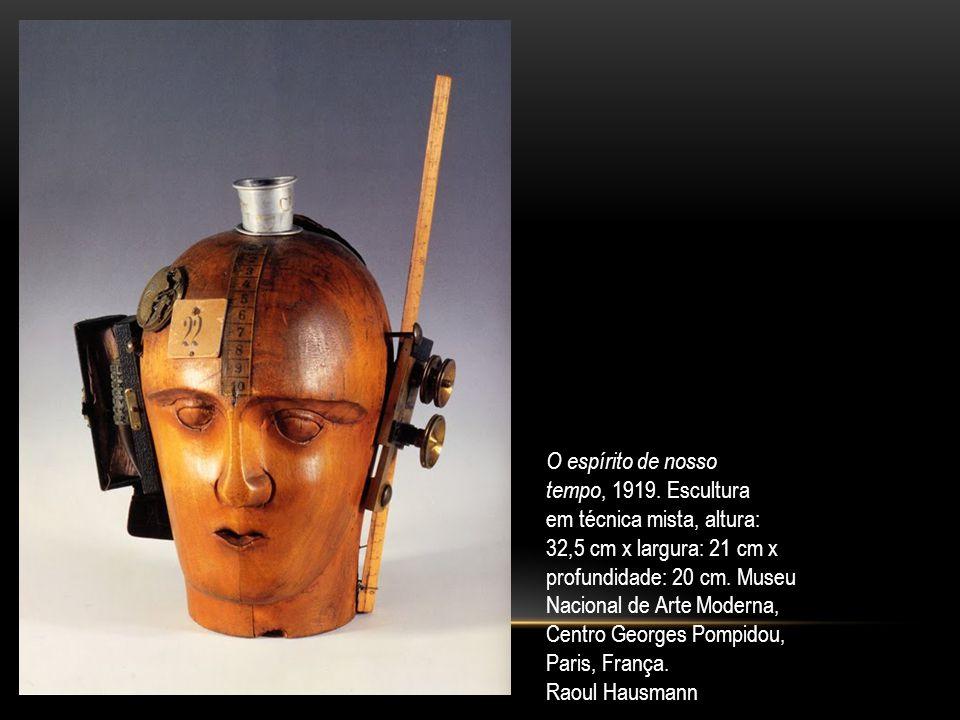 O espírito de nosso tempo, 1919. Escultura em técnica mista, altura: 32,5 cm x largura: 21 cm x profundidade: 20 cm. Museu Nacional de Arte Moderna, C