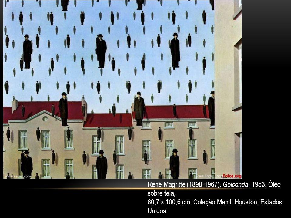 René Magritte (1898-1967). Golconda, 1953. Óleo sobre tela, 80,7 x 100,6 cm. Coleção Menil, Houston, Estados Unidos.