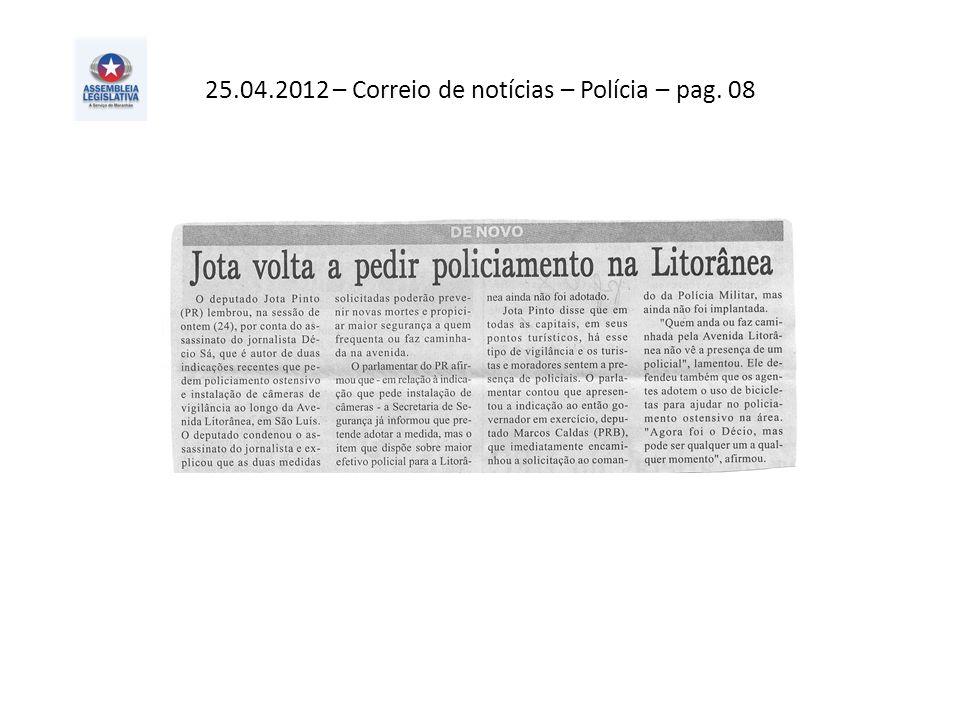 25.04.2012 – Correio de notícias – Polícia – pag. 08