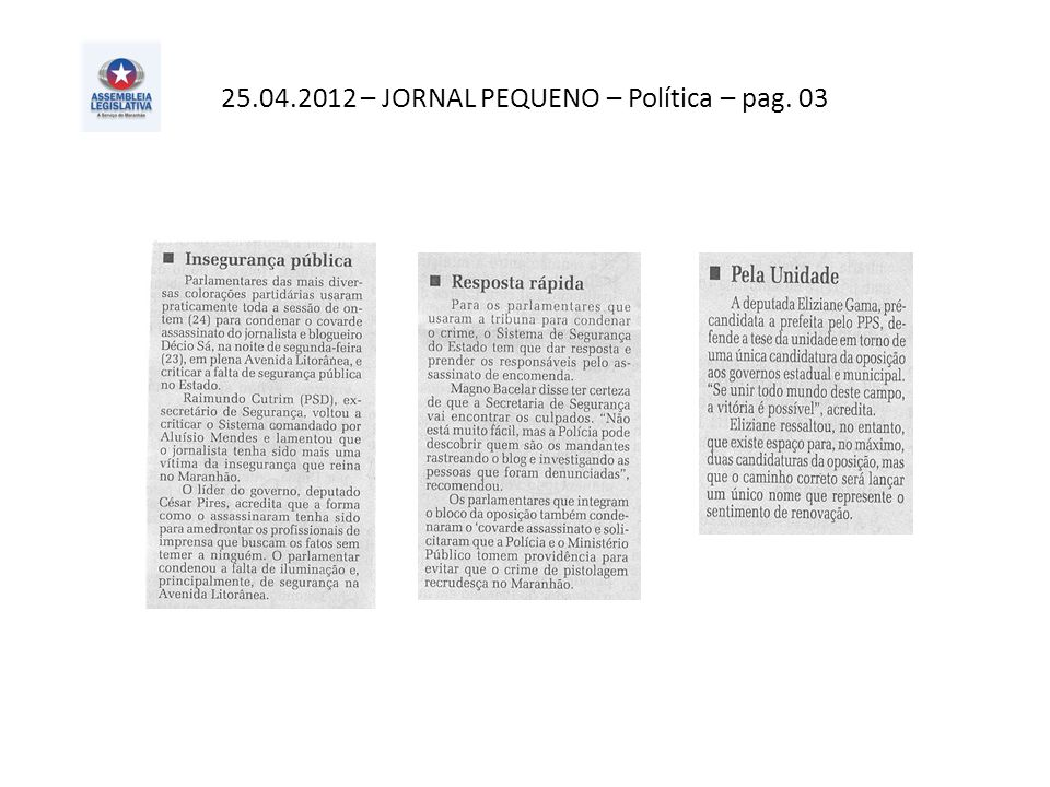 25.04.2012 – O Imparcial– Geral – pag. 06