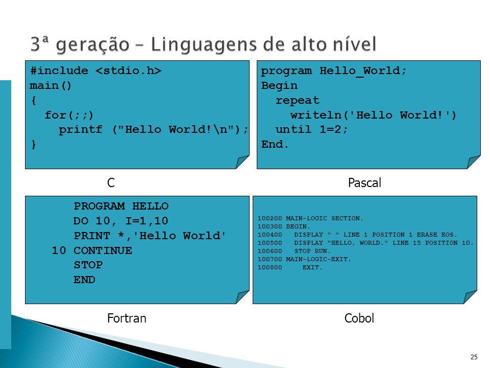 Escola Superior de Tecnologia de Tomar – Departamento de Eng. Informática 25 #include main() { for(;;) printf (