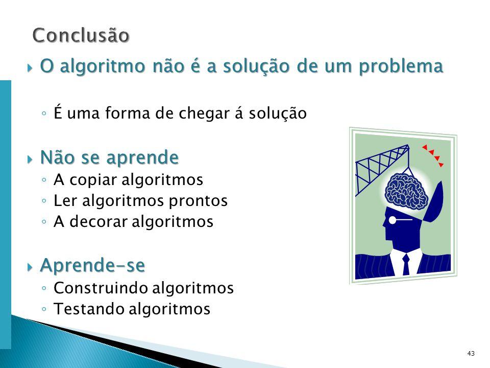 Escola Superior de Tecnologia de Tomar – Departamento de Eng. Informática O algoritmo não é a solução de um problema O algoritmo não é a solução de um