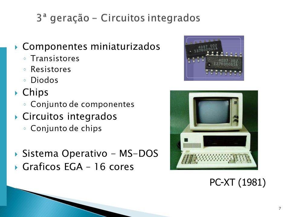 Escola Superior de Tecnologia de Tomar – Departamento de Eng. Informática Componentes miniaturizados Transistores Resistores Diodos Chips Conjunto de