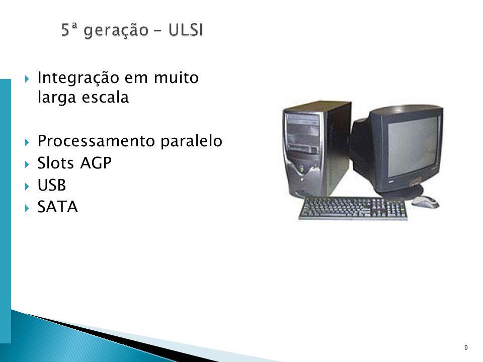 Escola Superior de Tecnologia de Tomar – Departamento de Eng. Informática Integração em muito larga escala Processamento paralelo Slots AGP USB SATA 9