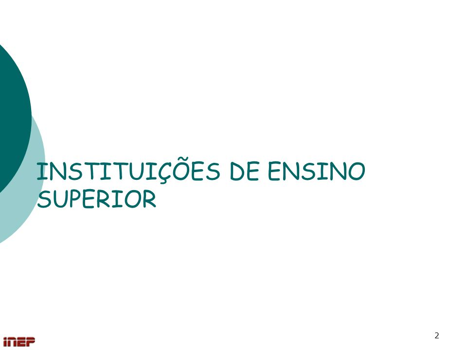 2 INSTITUIÇÕES DE ENSINO SUPERIOR