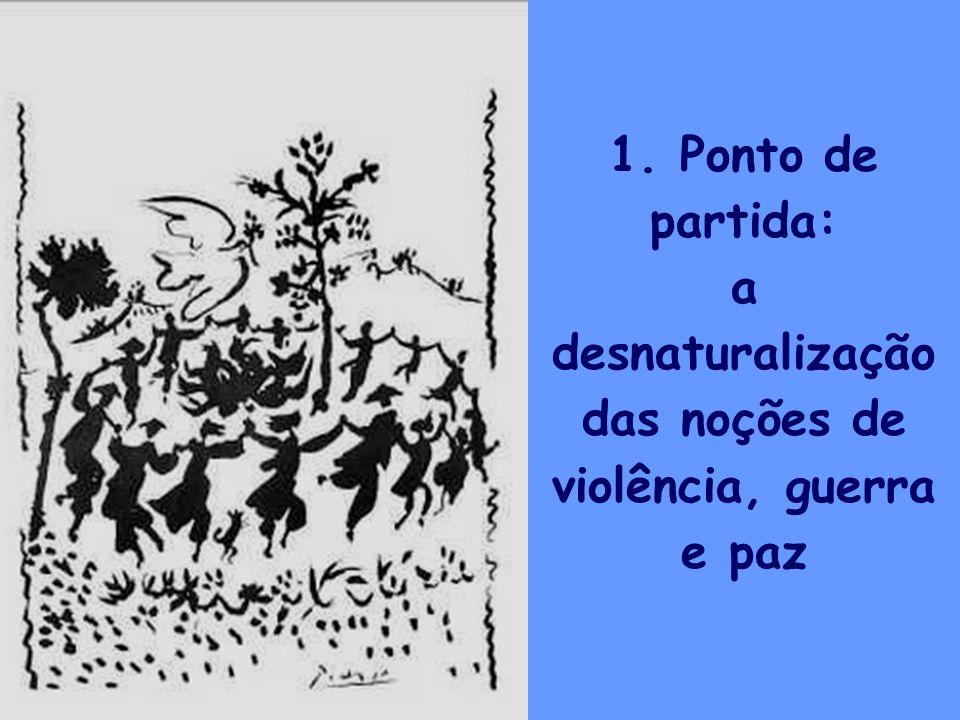 2 1. Ponto de partida: a desnaturalização das noções de violência, guerra e paz