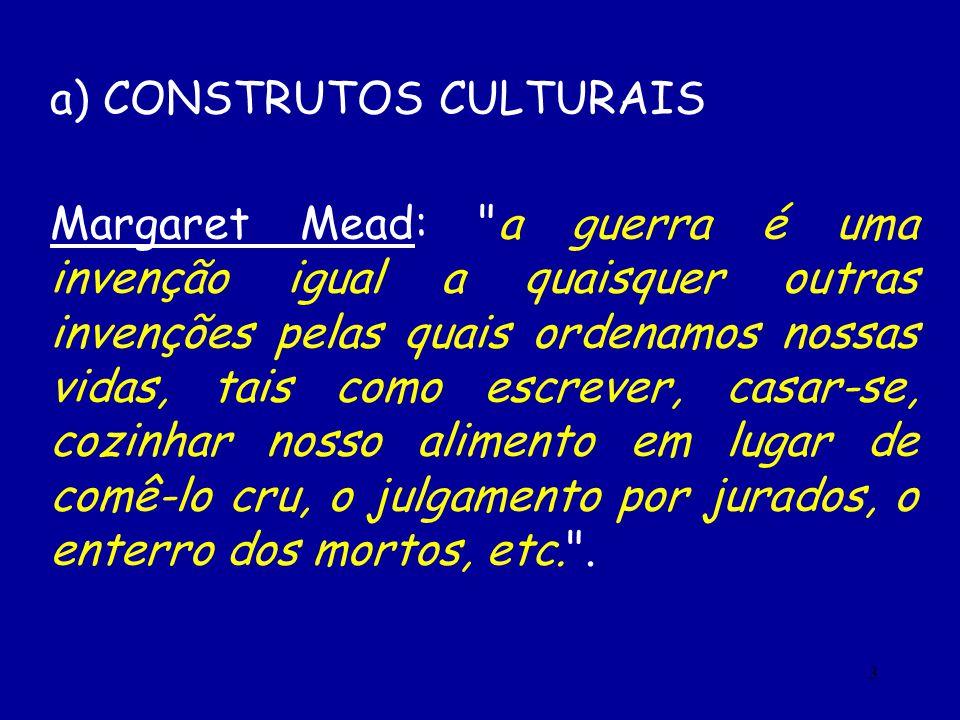 3 a) CONSTRUTOS CULTURAIS Margaret Mead: