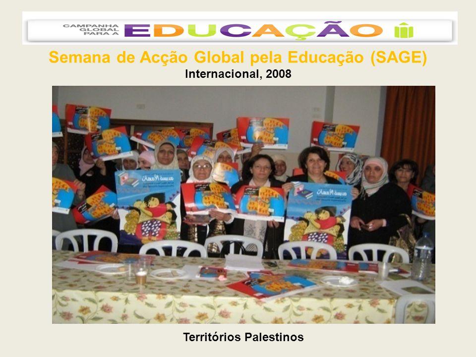 Semana de Acção Global pela Educação (SAGE) Internacional, 2008 Territórios Palestinos