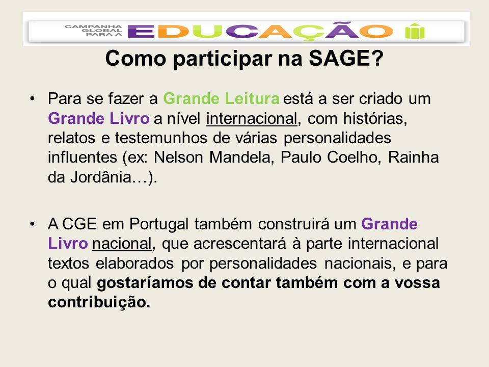 Como participar na SAGE.