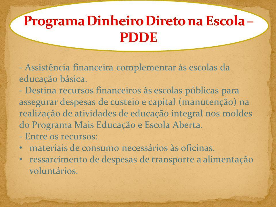 O Programa Mais Educação é uma política pública indutora da Educação Integral.