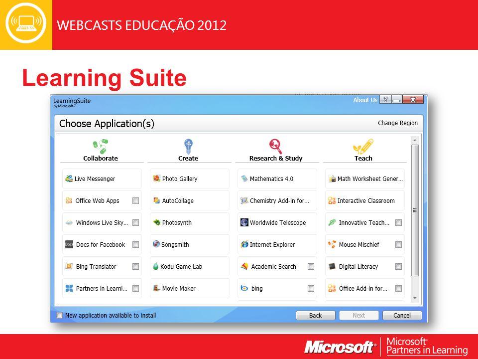 WEBCASTS EDUCAÇÃO 2012 Learning Suite