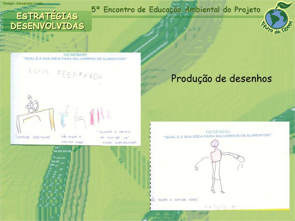 Design: Alexandre Costa 5º Encontro de Educação Ambiental do Projeto ESTRATÉGIASDESENVOLVIDAS Produção de desenhos