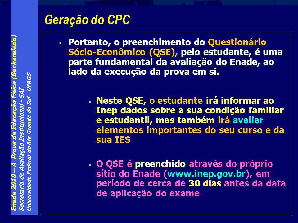 Enade 2010 – A Prova de Educação Física (Bacharelado) Secretaria de Avaliação Institucional - SAI Universidade Federal do Rio Grande do Sul - UFRGS Po