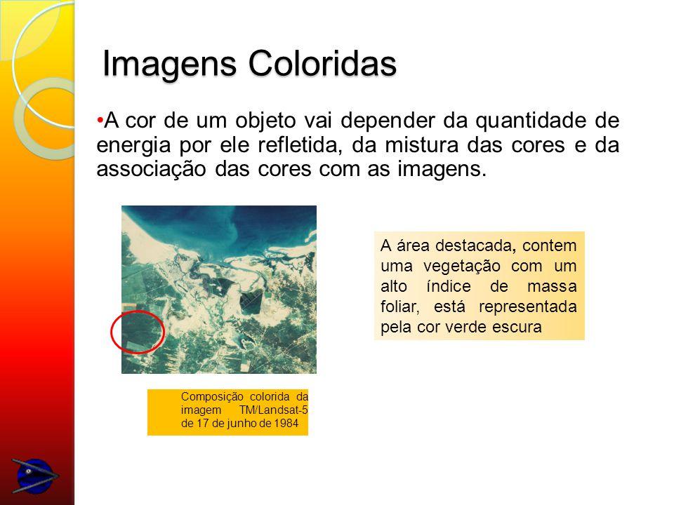 Imagens Coloridas A cor de um objeto vai depender da quantidade de energia por ele refletida, da mistura das cores e da associação das cores com as imagens.