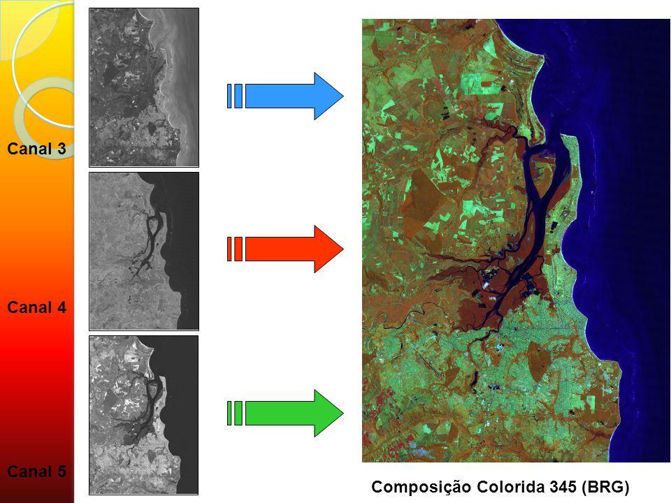 Canal 4 Canal 3 Canal 5 Composição Colorida 345 (BRG)