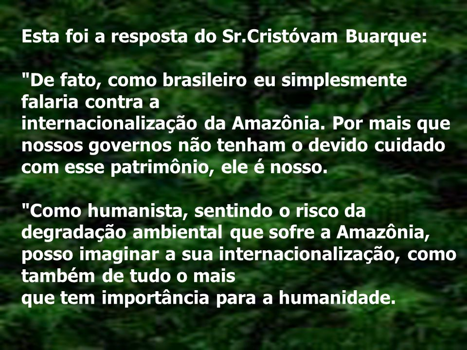 Essa merece ser lida, afinal não é todo dia que um brasileiro dá um esculacho educadíssimo nos americanos! Durante debate em uma universidade, nos Est