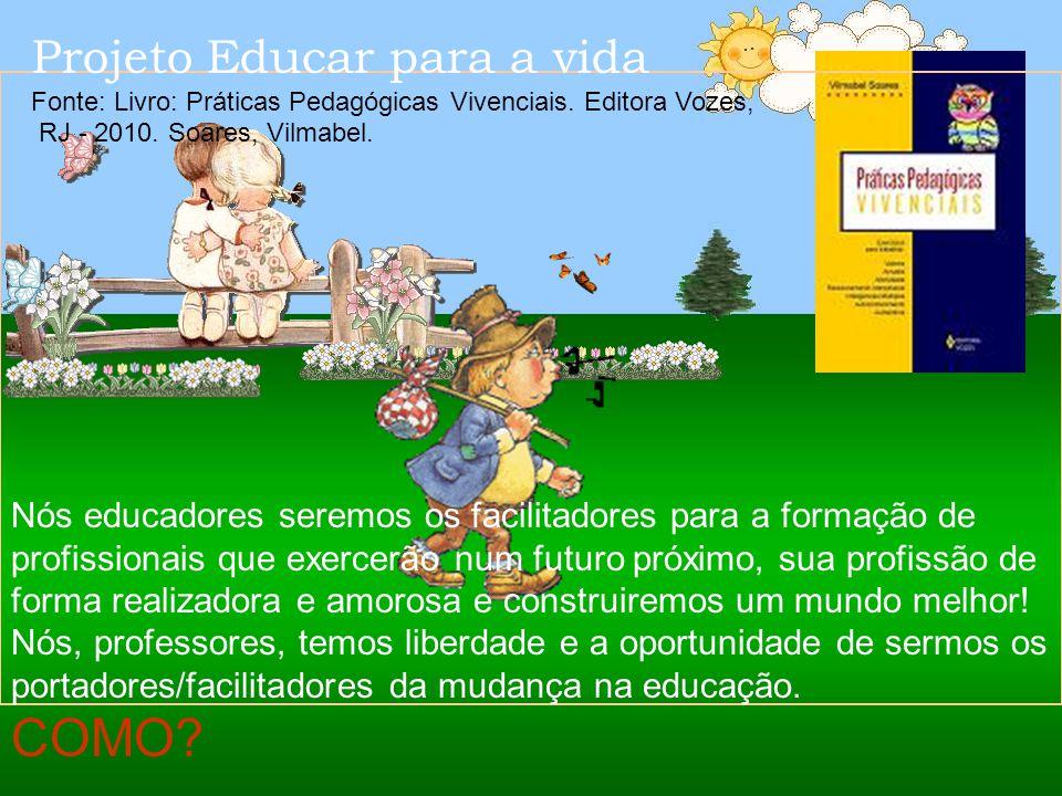 E assim poderemos construir uma nova caminhada quanto a realização do ser humano através da Educação Formativa comportamental (valores, atitudes, afet
