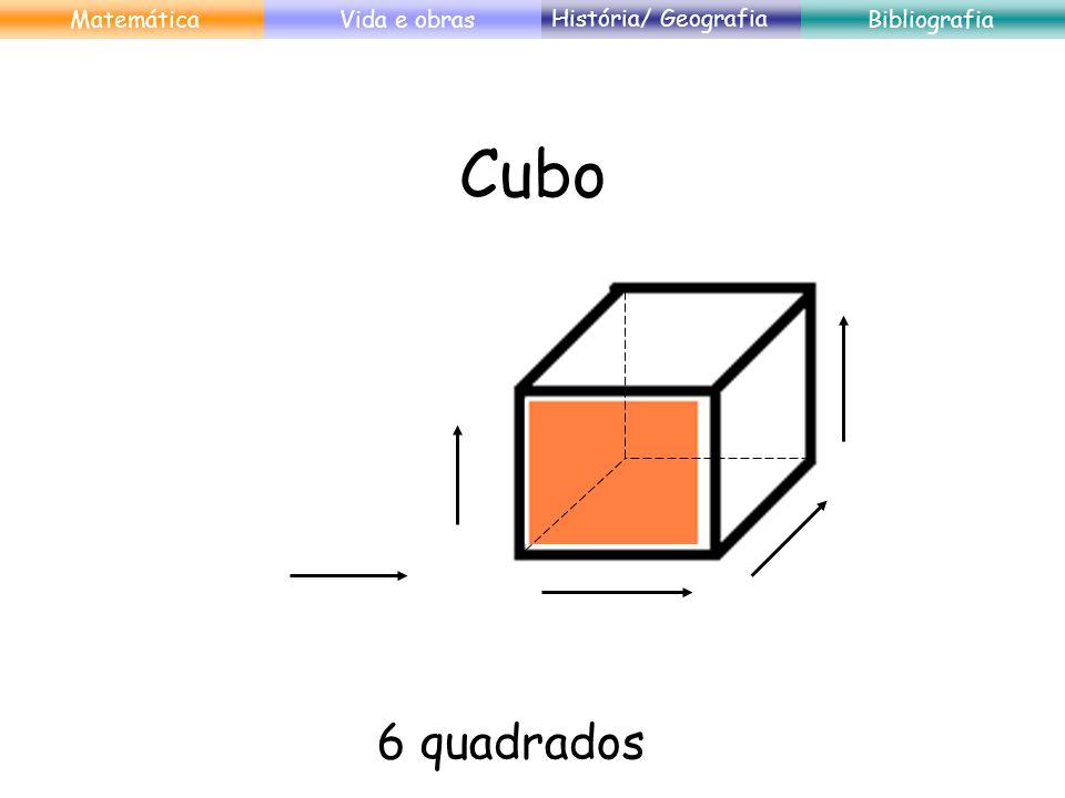 Cubo 6 quadrados MatemáticaVida e obras História/ Geografia Bibliografia