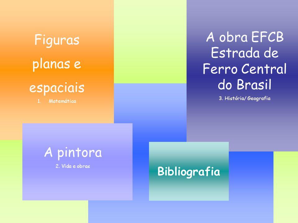 A obra EFCB Estrada de Ferro Central do Brasil 3. História/ Geografia Figuras planas e espaciais 1.MatemáticaMatemática A pintora 2. Vida e obras Bibl