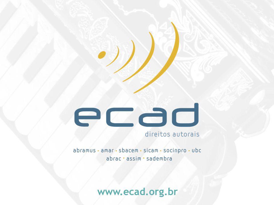Escritório Central de Arrecadação e Distribuição www.ecad.org.br