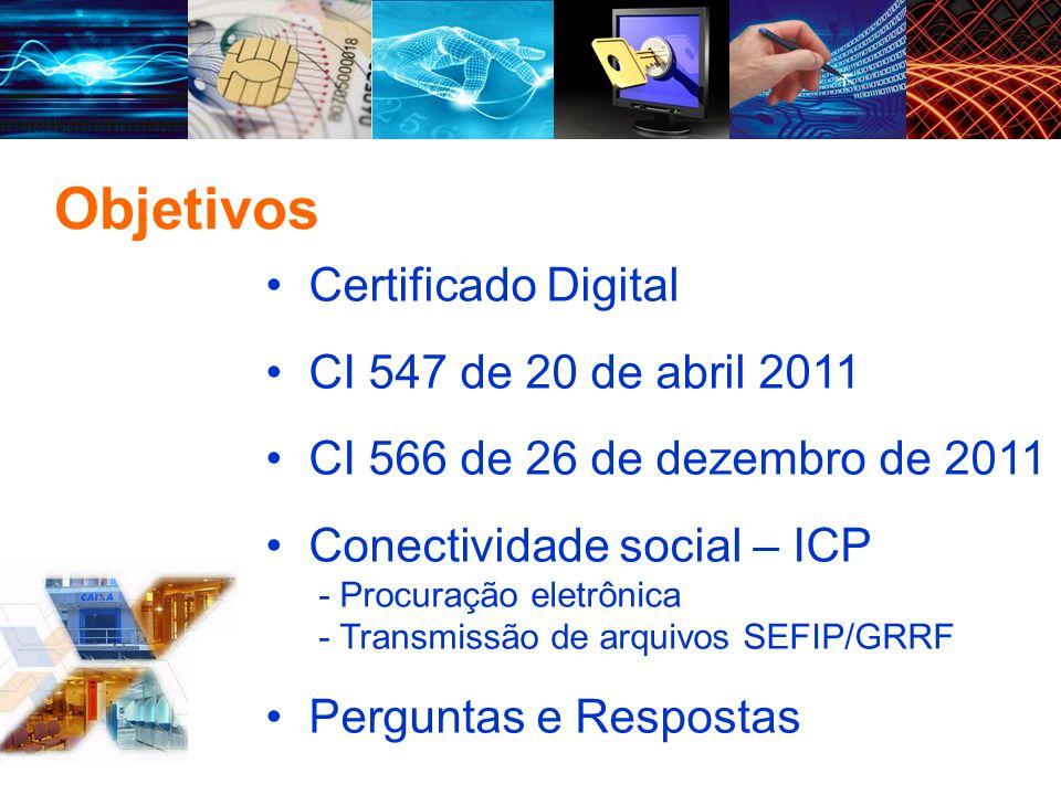 Certificado Digital É a identidade no mundo virtual, garante a identificação das partes envolvidas em uma Comunicação e o transporte seguro da mensagem por meio eletrônico.