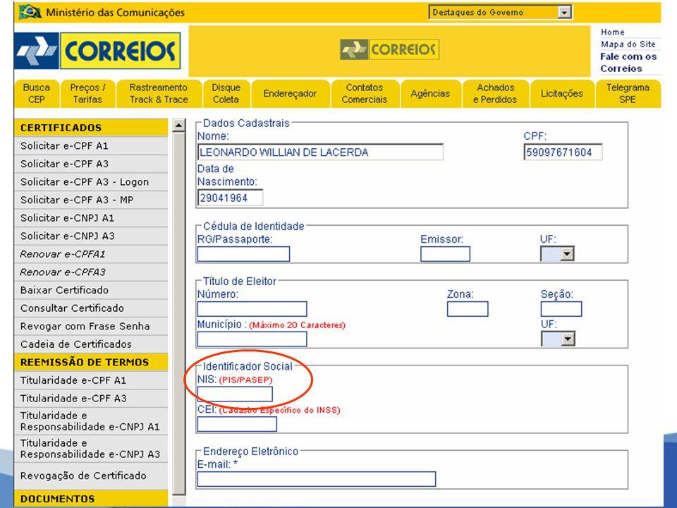 Empregado Certificado PF CPF CERTIFICADO PJ CNPJ MATRIZ CERTIFICADO PJ CNPJ FILIAL Empregado Certificado PF CPF SITUAÇÃO 5 EMPRESA com mais de um escritório de contabilidade.