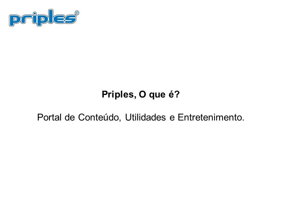 Priples, O que é? Portal de Conteúdo, Utilidades e Entretenimento.