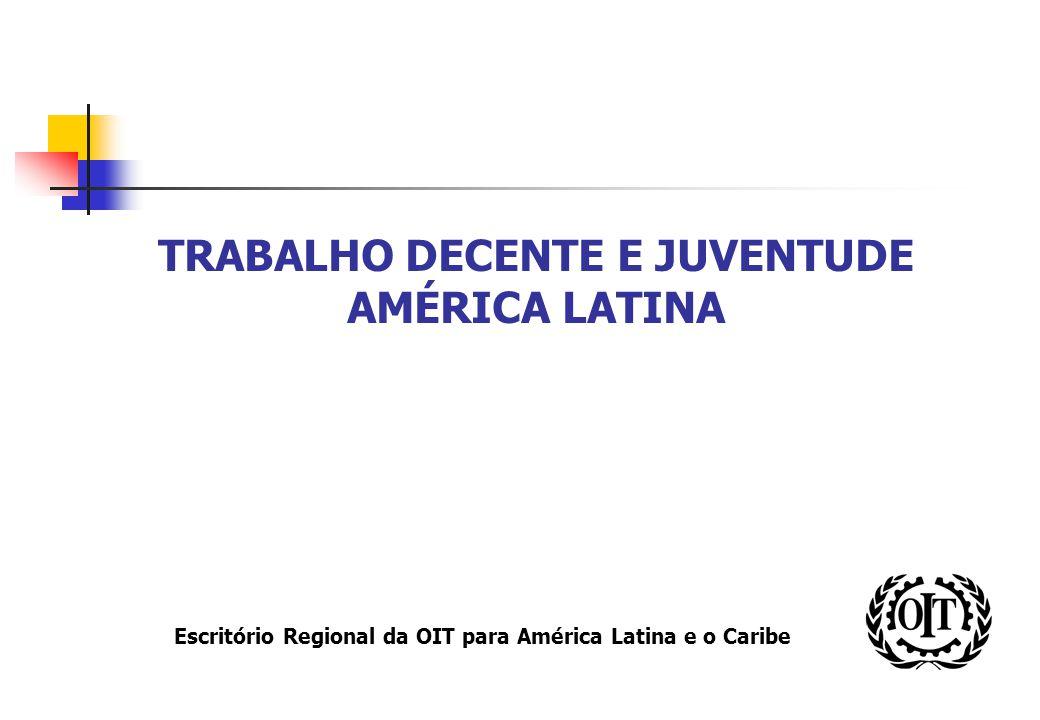 Escritório Regional da OIT para América Latina e o Caribe TRABALHO DECENTE E JUVENTUDE AMÉRICA LATINA