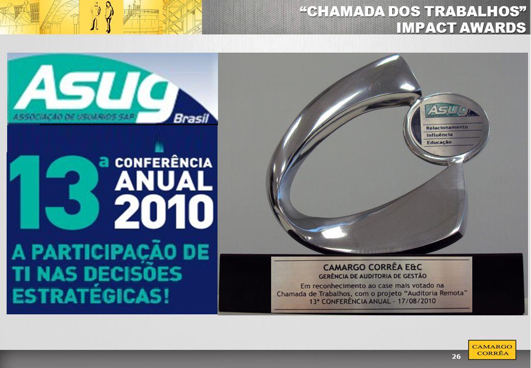 26 CHAMADA DOS TRABALHOS IMPACT AWARDS