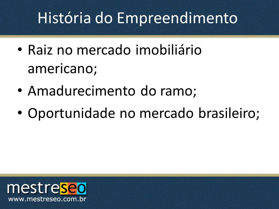 História do Empreendimento Raiz no mercado imobiliário americano; Amadurecimento do ramo; Oportunidade no mercado brasileiro;