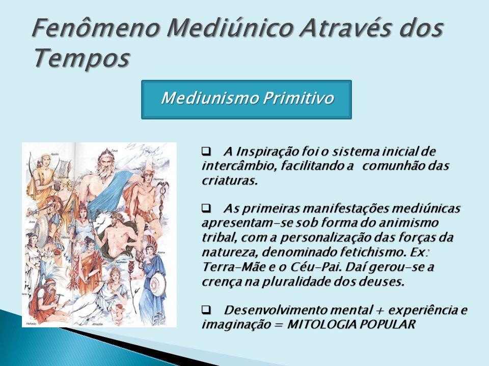 Mediunismo Primitivo A Inspiração foi o sistema inicial de intercâmbio, facilitando a comunhão das criaturas. A Inspiração foi o sistema inicial de in