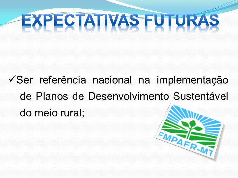 Ser referência nacional na implementação de Planos de Desenvolvimento Sustentável do meio rural;