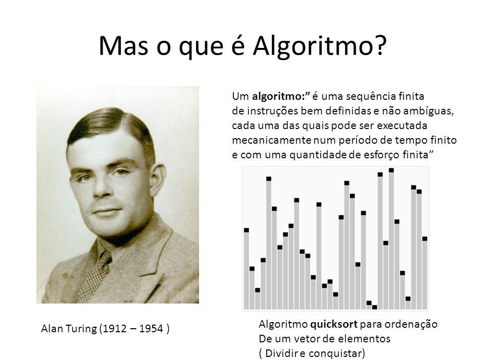Mas o que é Algoritmo? Um algoritmo: é uma sequência finita de instruções bem definidas e não ambíguas, cada uma das quais pode ser executada mecanica