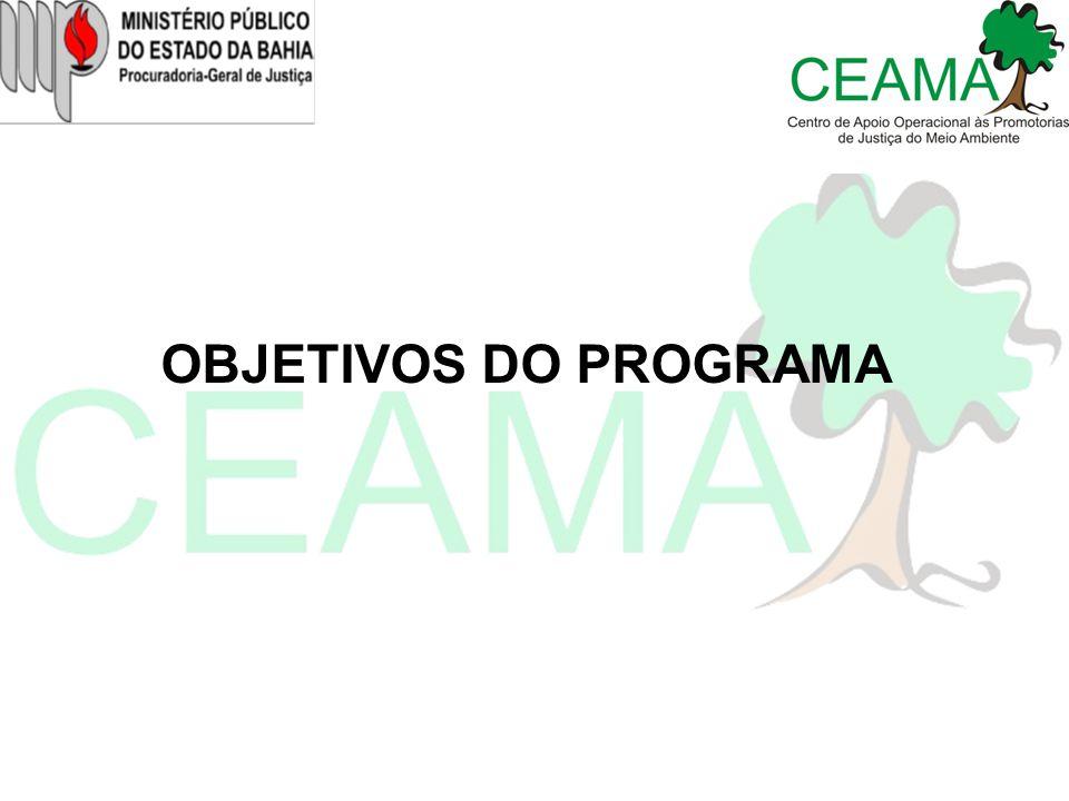 1.Realizar avaliação da qualidade ambiental dos pontos de disposição final dos resíduos sólidos urbanos no Estado da Bahia; 2.